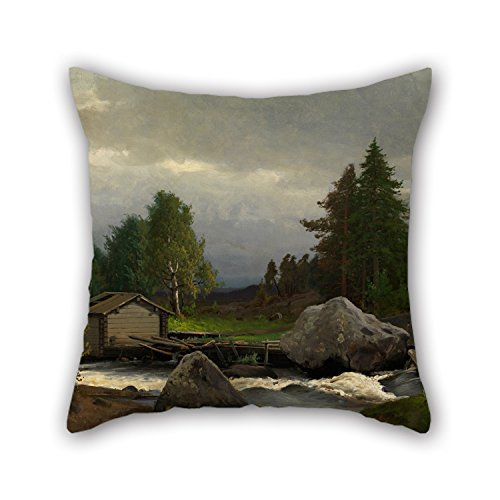 beautifulseason Oil Painting Weurlander, Fridolf - Sorsakoski Pillow Cases 20 X 20 Inch/50 by 50 cm for Outdoor,Indoor,Club,Office,Husband,Dance Room with 2 Sides (Runner Couch)