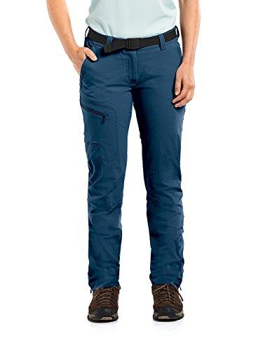 MAIER SPORTS Funktionshose Inara Slim für Damen aus 90% PA 10% EL in 23 Größen, Outdoorhose/ Wanderhose/ Slimfit Hose inkl. Gürtel, bi-elastisch, schnelltrocknend und wasserabweisend,blau,17