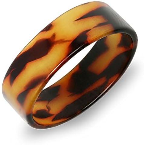 Bling Jewelry acrilico marrone guscio di tartaruga di spessore largo anello di banda