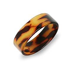Idea Regalo - Bling Jewelry acrilico marrone guscio di tartaruga di spessore largo anello di banda