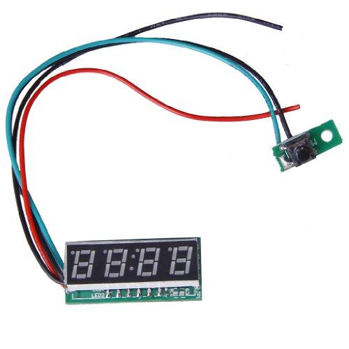 Grün 0,28 Zoll Digitaler LED Taktgeber Uhr Auto Motor Motorrad Einstellbare 24 Stunden Zeit DC 7 30V