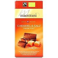Maestrani Swiss Organic Caramel & Salz/Salt, 80g