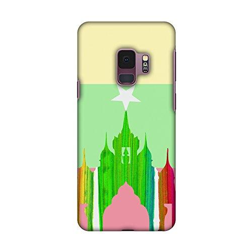 Amzer Slim Fit Handarbeit Designer Printed Snap on Hard Shell Schutzhülle Back Cover für Oppo F1Plus–Das Taj Mahal- Indien Flagge HD Farbe, Ultra Light Rückseite Fall