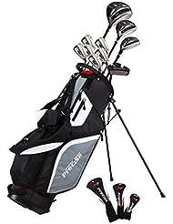 Präzise M5Herren Golf Komplett Set inkl. Titanium Driver, S.S. Fairway, S.S. Hybrid, S.S. 5-pw Eisen, Putter, Ständer Tasche, 3H/C 's Right Hand (rechts)