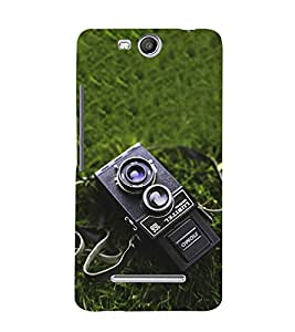 Vizagbeats Antique Camera Back Case Cover for Micromax Canvas Juice3 Q392