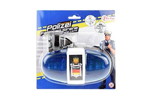 toi-toys–Polizei Beleuchtung Zubehör für Fahrräder und Fahrzeuge, 55008A, - Fahrrad-polizei