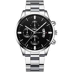 Bracelet en Acier CUENA pour Hommes Montre à Quartz Intelligente Horloge Bracelet de la Mode en Général Loisirs d'affaires simpre Elegant