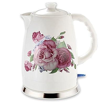 Céramique bouilloire électrique sans fil 1,5 L 2L 1500-1600 W Französische Rose