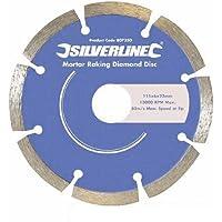 Silverline 807350 Jeu de 2 disques diamant spécial joint de mortier 115 x 22 x 6 mm