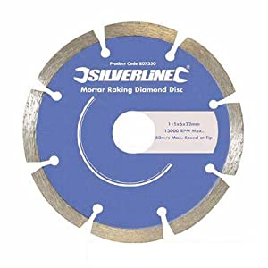 Silverline 807350 Mortar Raking Diamond Blade 115 x 22.2 mm - Pack of 2
