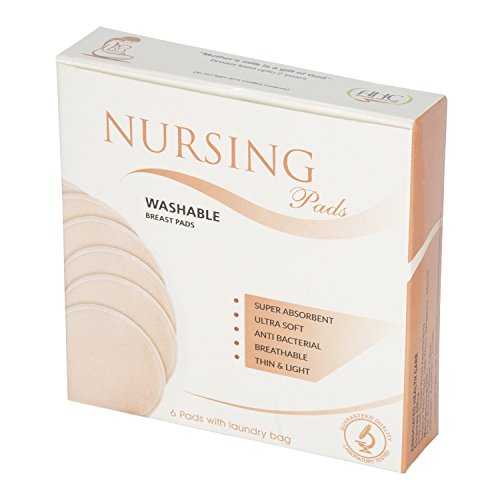 Ahc Washable Maternity Nursing Breast Pads - 6 Pads With Laundry Bag - Pale Pink