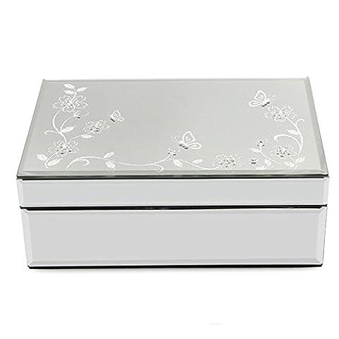 européenne haute–Extrémité Boîte à bijoux en verre Boîte à bijoux boîte de rangement bijoux bague Box, comme sur l'image,