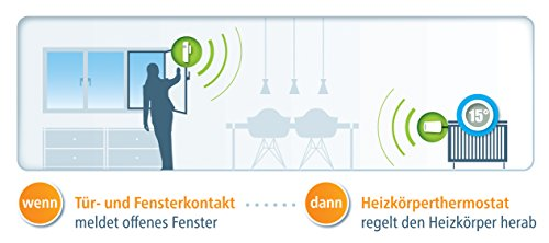 devolo Home Control Türkontakt/Fensterkontakt (Z-Wave Hausautomation, Haussteuerung per iOS/Android App, Smart Home Sensor, Funk Magnetkontakte) weiß - 6