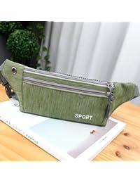 Generic Men's Women's 5.5 Inch Nylon Sports Waist Bag Crossbody Bag For IPhone 7/7/6s Plus Samsung (Green)