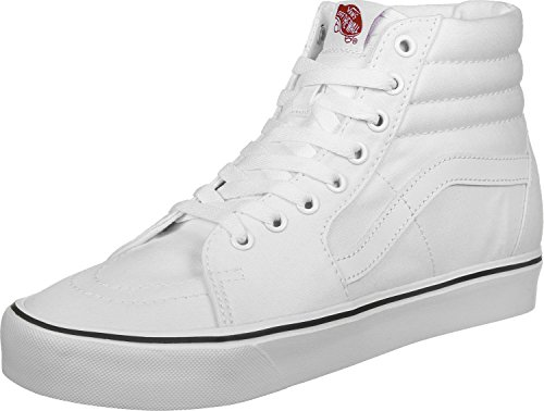 Vans Sk8-hi Lite Plus - Scarpe da Ginnastica Alte Unisex – Adulto, Nero (suede/canvas/black/white), 34.5 EU (canvas) True White