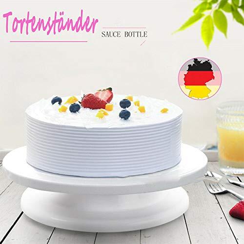 Tortenplatte drehbar, Uten Tortenständer Kuchen Dekor Werkzeuge Kuchen Drehteller Decorating Turntable für Backen Gebäck, Zuckerguss, Mustern - 27.5x7.3cm