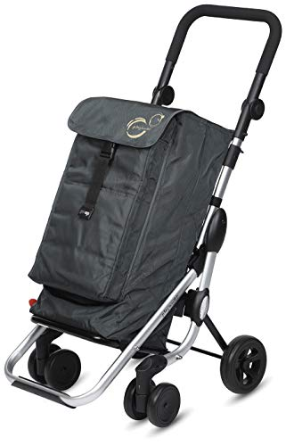 Playmarket Carro de la Compra Go Up Basic, 110 cm, 39, 5 litros, Gris Marengo