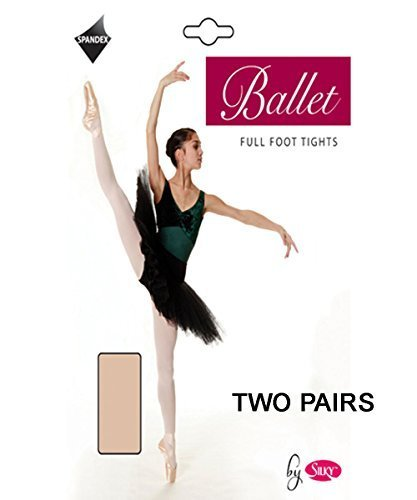 2-Pairs-Silky-Childrens-Girls-Full-Foot-Dance-Ballet-Tights-2-Pairs