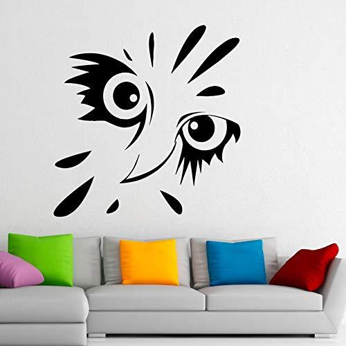 wukongsun Art Design Owl Bird Vinyl Poster Selbstklebender Tier Wandaufkleber Schlafzimmer Art Deco Decking 63cm x 66cm