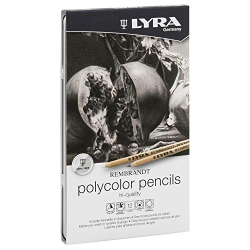 Lyra Rembrandt Polycolor - Estuche metálico 12 lápices