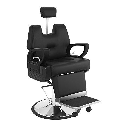 Physa florenz poltrona barbiere sedia barbiere sedia parrucchiere regolabile (altezza 57,5–71 cm, schienale e poggiatesta regolabili) nera