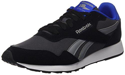 Reebok Royal Ultra, Zapatillas para Hombre, Negro (Black/Ash Grey/Flint Grey/Vital Blue/White), 44 EU