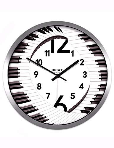 FortuneVin Wanduhr Clock Home Dekorationen hängende Uhren Kreative Musik Klavier Klassen. Stummschaltung - Klavier-klassen