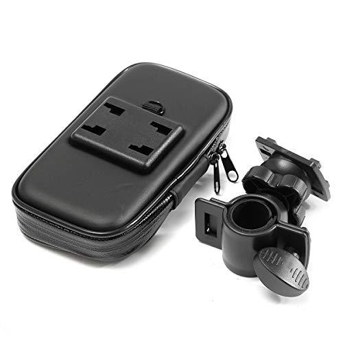 GOZAR Téléphone Portable GPS Porte-Guidon Support Sac Étanche Étui pour Moto S/M/L/XL - S