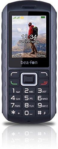 Beafon AL550_EU001BS Mobiltelefon (Dual SIM, TFT Farbdisplay, VGA Kamera, Bluetooth, IP67 (Staubdicht und Wasserdicht, 4,6 cm (1,8 Zoll schwarz/Silber