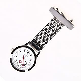 Brand New Nurse Stainless Steel Quartz Silver Fob Watch Silver