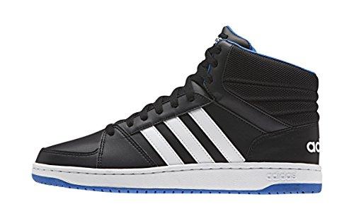 Adidas Herren Hoops Vs Mid Basketball-Schuhe, Mehrfarbig (Cblack/Ftwwht/Blue), 44 EU
