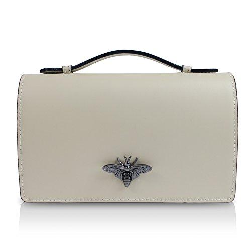 Glamexx24 Borsa vera Palle da Donna a mano , con elegante chiusura Casual Borsetta a tracolla, elegante Clutch Made in Italy 1.014 1.014.3