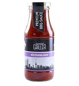 Hauptstadtgriller BBQ Sauce Röstknoblauch, Premium Grillsauce in Bio Qualität (1 x 240ml)