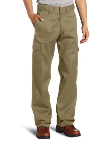 Dickies Herren Relaxed Straight-Fit Cargo Work Pant Arbeitshose, Desert Sand, 40W / 30L - Twill Womens Cargo Pocket Hosen