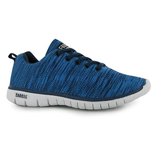 Tissu Femme Flyer Chemin de Mesdames Sport Chaussures Fermeture à Lacets Baskets de running Bleu - Bleu marine