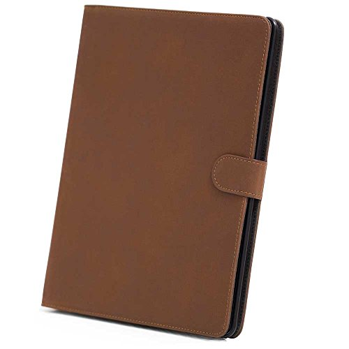 HSRpro Matt Hülle für Apple iPad 2 - iPad 3 - iPad 4 - Tasche Cover Case Etui Schutzhülle mit Inner Schale und Guten Haltegefühlen in Braun (Bookbook Ipad 3)