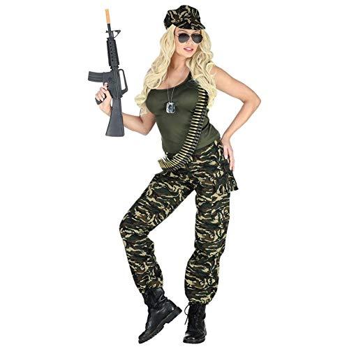 Widmann Damenkostüm Soldatin (Army Girl Kostüm Zubehör)