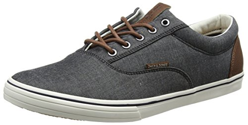 JACK & JONES Herren Jfwvision Chambray Mix SS Anthracite Sneaker, Grau (Anthracite), 46 EU