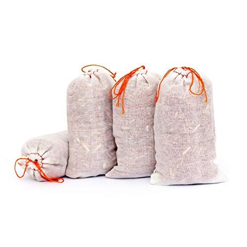 Lantelme 6110 Lot de 4 sachets de bois de cèdre la Motte respectueuse Stop - Lutte contre Protection anti-mites