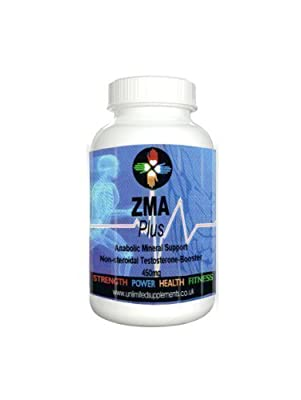 ZMA PLUS 1000mg x 180 vegan capsules of pure Product - Advanced Anabolic Mineral Support. Non Steroid, Magnesium Asparatate, Zinc, Vitamin B6. 100% clinically proven to increase Testosterone levels and strength for individuals involved in any intense weig