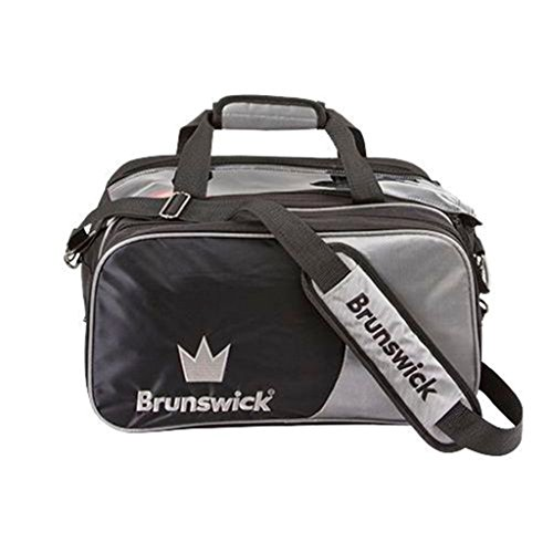 Brunswick Crown Double Tote mit Schuh Tasche Bowling Bag, Silber