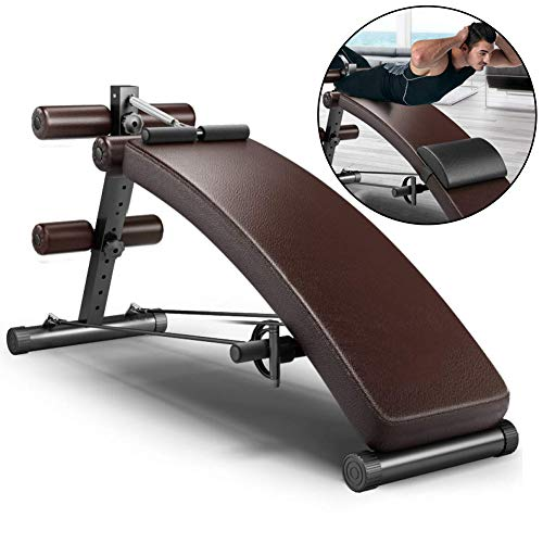LIJJY Multi-Functional Sit-Up Board, Home Fitness Equipment, Supine Board, Macchina Addominale, Belly Addome Bell Machine, Brown