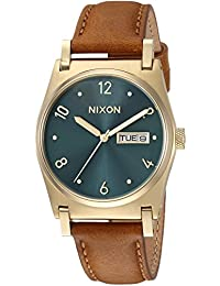 Nixon Women's 'Jane Leather' Quartz Stainless Steel Casual Watch, Color Brown (Model: A9552626)
