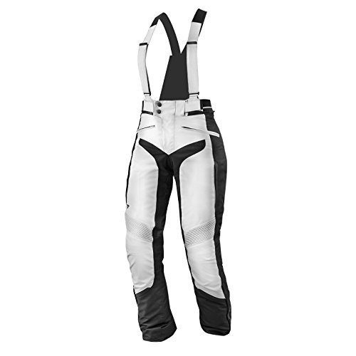 SHIMA NOMADE TROUSERS GREY, Einstellung Wasserdicht Ventilierten Damen mit Protektoren Textile Motorradhose (XS-L), Grau