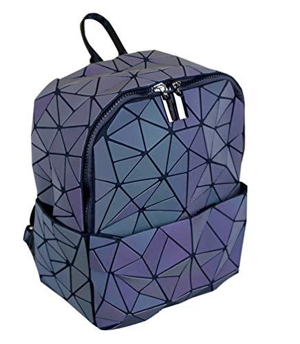 Geometrisch Rucksäcke Fashion Schultaschen Daypacks Damen Rucksackhandtaschen Mädchen College Reisen Holographisch Schultertasche Kinderrucksäcke Dreieck Blume