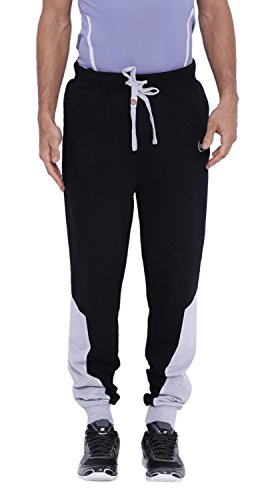 Difference Of Opinion Men's Cotton Track Pant (JGAW16002BLK--32, Black, 32)