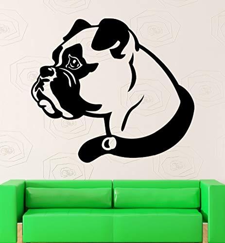 haotong11 Stickers muraux Chien Boxer Animal Nice Home Decor Decal de Salle Vinyle 27 * 46cm