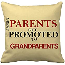 Tied Ribbons Parents day gift Grandparents Printed Cushion cover(12 x 12)inch with filler
