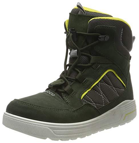 ECCO Unisex-Kinder URBAN Snowboarder Hohe Sneaker, Grün (Deep Forest/Canary 51640), 38 EU