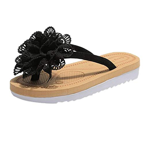 Sanahy Damen Sommer Mädchen Sandalen Frau Mode Blume Flachen Boden Schuhe Komfortable Sandwich Zehe Leck Flops -